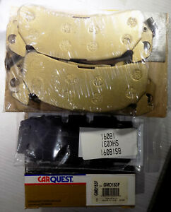 NEW CARQUEST GMD153F FRONT PREMIUM PLUS DISC BRAKE PAD SET, 4 Pads, Made in USA