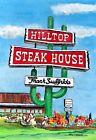 HILLTOP STEAK HOUSE cactus neon sign watercolor art print Saugus MA Gift cows