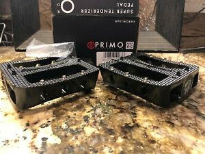 Primo BMX bike PEDALS SUPER TENDERIZERS FIT 3piece cranks 9/16 S&M midschool NEW