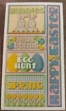 Happy Easter Bunnies Jelly Beans Egg Hunt Sticker Sheet Frances Meyer Acid Free
