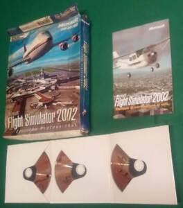 FLIGHT SIMULATOR 2002 PC GAMES BOX GIOCO MICROSOFT
