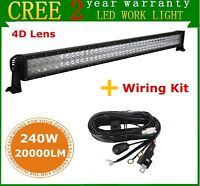 4D+ 42INCH 240W LED Light Bar Combo Car 4WD Ford Driving SUV pk 40/44+Free Wires