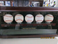 5 MLB Triple Crown Winners Auto Baseballs Mantle,Williams,Cabrera,Custom Case