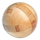 Wooden Puzzle Magic Ball Brain Teasers Toy Intelligence Game Sphere Puzzles