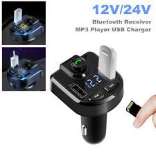 12V/24V Car Trucks Bluetooth Receiver Mp3 Player Cigarette Lighter Usb Charger(Fits: Charger)