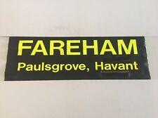 "Hoeford / Portsmouth Bus Blind May99 36""- Fareham Paulsgrove Havant"