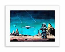 Robby ROBOT Planeta prohibido Espacio Estrellas Sci Fi Cartel Cuadro Pintura de EE. UU.