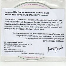 (GG354) James And The Peach, Don't Leave Me Now - 2013 DJ CD