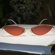 Women/'s Gold w// Brown Oval Sunglasses NO.78052