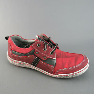 KACPER Schnürschuh mit praktischem Wechselfußbett Rot Gr.40 Damenschuhe Neu