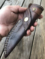 CUSTOM HAND MADE Pure LEATHER SHEATH FOR FIXED BLADE KNIFE