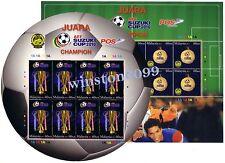 2011 Malaysia AFF Suzuki Cup 2010 Football Champion Sheetlet Stamps (1 pair) MNH