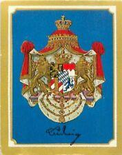 Ludwig Ier Bavaria Louis Bavière Bayern Armoiries Coat of Arms IMAGE CHROMO 30s