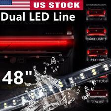 "48"" 2-Row LED Truck Tailgate Strip Light Bar Running/Signal/Reverse/Brake/Scan"