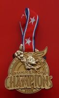 Walt Disney 2008 Pin Badge / Medal with Ribbon Summer of Champions Mickey Mouse