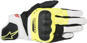 Alpinestars SP-5 Leather Gloves - Black/Yellow/White - XXL 2XL