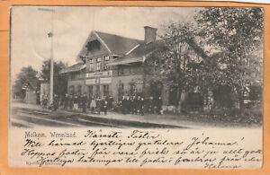 Molkom Wermland Railroad Station Sweden 1902 Postcard Mailed