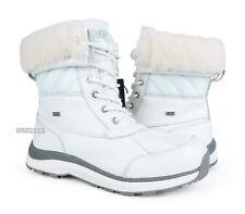 UGG Adirondack III Quilt White Leather Fur Boots Womens Size 10 *NIB*