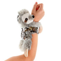 Wild Republic Huggers Sequin Plush Animal Slap Bracelets Sloth Turtle Unicorn