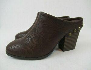 Easy Street Clogs Women's 1660 Shoes Slip On Mule Comfort Heels Brown Sz 5.5 M