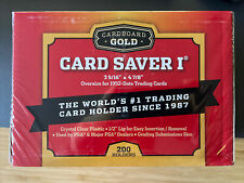 Card Saver 1 200 Count Semi-Rigid Cardboard Gold Cardholders - PSA
