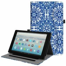 Multi-Angle Views Case Folio Stand Cover for Amazon Fire HD 10 Tablet (7th,2017)