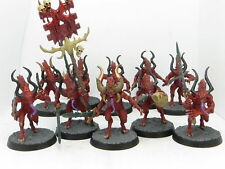 BLOODLETTERS OF KHORNE  Painted Warhammer AOS / 40k Blades Of Khorne Army