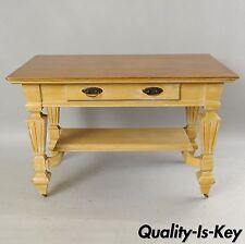Antique Golden Oak Desk Hall Table Console Mission Arts & Crafts One Drawer