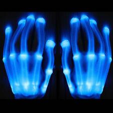 SUPER SALE! L.E.D. Skeleton Gloves, EL gloves * Rave * Party * HALLOWEEN
