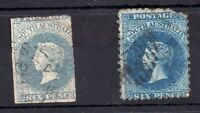 South Australia QV 6d WMK Star (2 different) WS7873