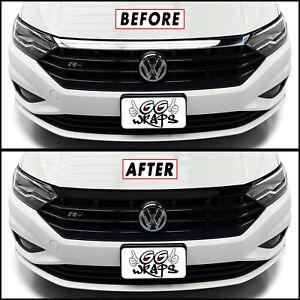 Chrome Delete Blackout Overlay for 2019-21 Volkswagen Jetta R-Line Front Grille