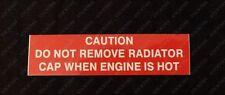 Holden VR VS HSV V8 185i 215i GTS Senator - Caution Radiator Cap / Fan Warning