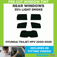 Pre Cut Window Tint - Hyundai Trajet MPV 2000-2008 - 35% Light Rear
