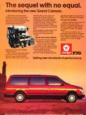1987 Dodge Grand Caravan Van - Vintage Advertisement Car Print Ad J395