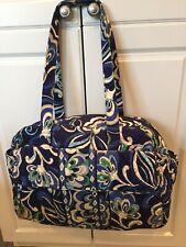 "Vera Bradley Diaper Duffel Bag Retired ""Mediterranean Blue"" Pattern (Fall 2008)"