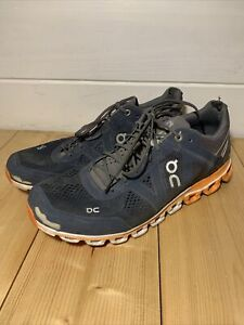on cloud swiss engineering grey and orange mens trainers size uk 8.5