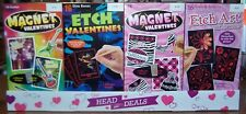 Valentines Lot of 24 boxes with 16 cards each Magnet & Etch Kids School Class
