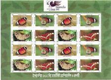 More details for 2012    bangladesh  -  sg. 1097 / 1100 x 4  -  sheet  - butterflies -  mnh