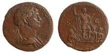 Trajan. 98-117 AD. Æ Sestertius, Struck 116-117 AD. Rare.