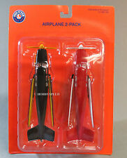 LIONEL AIRPLANE ACCESSORY (2) o gauge building scenery train load 6-37855 NEW