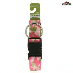 """Adjustable Pink Camo Dog Collar for XL Dogs 20""""-30"""" ~ New"""