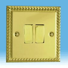 Varilight 13A Switched Fused Spur Georgian Brass Dec Insert XG6D