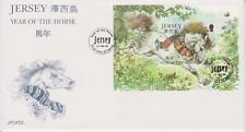Unaddressed Jersey FDC First Day Cover 2002 Year of the Horse Sheet 10% off 5
