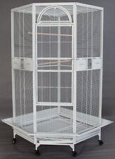 "63"" X-Large Corner Bird Flight Cage Cockatiel Parakeet Budgies With Seed-Skirt"