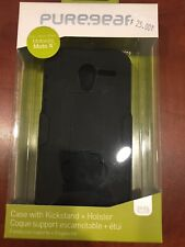 Puregear Case With Kickstand + Holster For Moto X Black