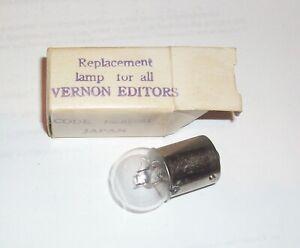 VERNON Editors Replacement Lamp Bulb Code No. 85561 NEW in original box