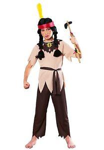 Boys Native American Indian Costume World Book Week Day School Kids Fancy Dress