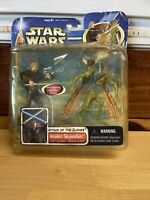 Star Wars Attack of the Clones Anakin Skywalker with Lightsaber Slashing Action