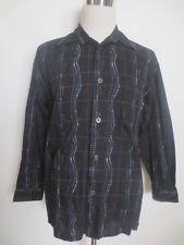 CHEMISE SIGNUM M coton manches longues Tissage Noir Bleu Tip Top/e2