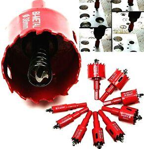 Bi Metal Hole Saw Cutter M42 Pilot Drill Bit For Metal Wood Plastic 15mm-200mm